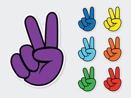 Vetor de sinal de paz