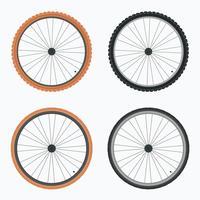 Vetor de pneu de bicicleta