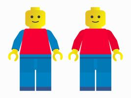 Two plastic toy men standing side by side