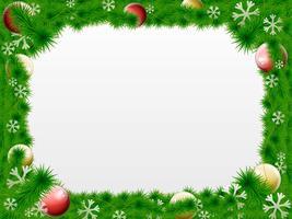 Bordo di Natale ghirlanda vettoriale