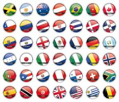 Vecteurs de drapeau du monde