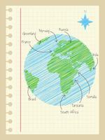 Cute Globe Vectors