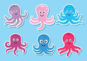 Octopus Vector Set