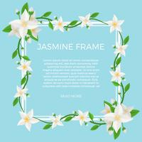 Flat Jasmine Flower Background Vector de la plantilla