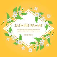 Flat Jasmine Flower Background Template Vector