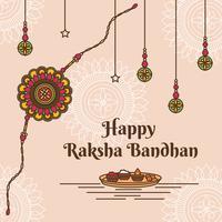 Vecteur de Raksha Bandhan heureux