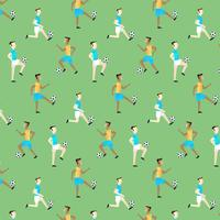 Cute Pattern With People Playing Soccer