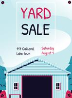 Yard Sale Sign Template Poster vector