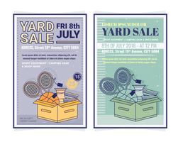 Vector Yard Sale Posters