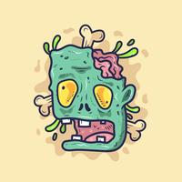 New Skool Zombie Tattoo Vector