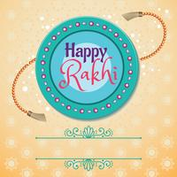 Happy Rakhi Indian Holiday Card vector