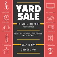Yard-Verkaufs-Schablonen-Vektor