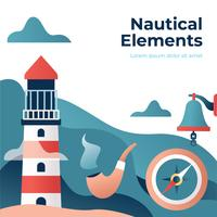 nautiska element illustrationen