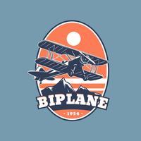 Emblema Biplano Vector