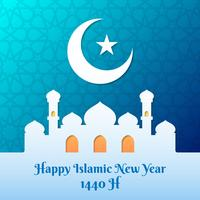 Happy New Hijri Year 1440H Illustration