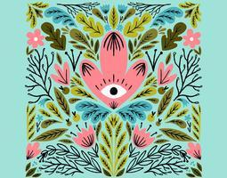symmetrical eye flower