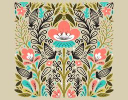 symmetrisches Blumenmuster