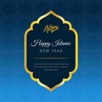 Happy Islamic New Year Vector Background