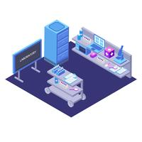Science Laboratory Isometric Vector Illustration