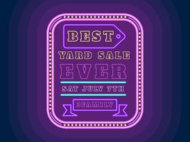 Unieke Yard Sale Sign Vectoren
