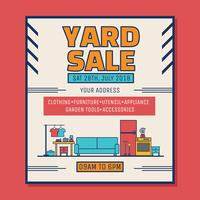 Yard Sale Poster Vector