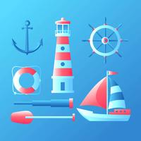 Nautical element Set Vector