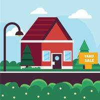 Yard for Sale Vector Design