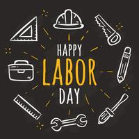 Hand Drawn Labor Day Vector