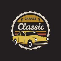 Classic Car Badge vector
