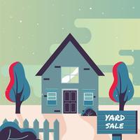 Werf verkoop teken posterontwerp vector