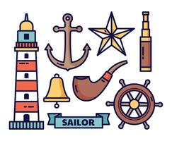 Nautical elements vector illustration