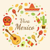 Viva Mexico Vector Background