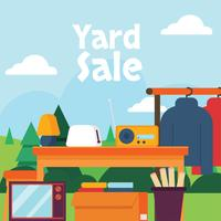 Yard Sale Sign poster Vector Design