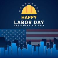 Labor Day Card Design Vector Illustration