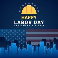 Labor Day Card Design Vector Illustration