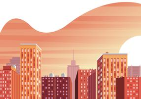 Cityscape Sunset Illustration vectorielle