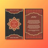 Red Luxury Islamic Style Invitation Template Vector