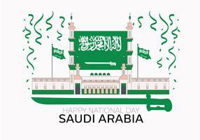 Saoedi-Arabische nationale dag Vector