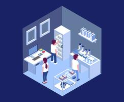 Isometric Lab Illustration