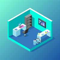 Isometric Lab Vector