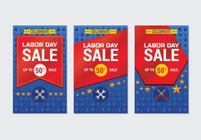 Labor Day Sale Promotion Advertising Banner Template