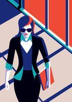 Professionele vrouw lopen op kantoor