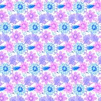Vector Colorful Seamless Floral Pattern