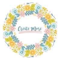 Vector Colorful Floral Wreath