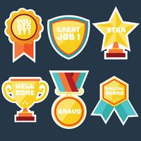 Teacher Award Stickers Vector Pack