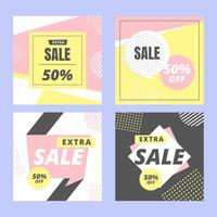 Instagram Verkauf Vektor Vorlage