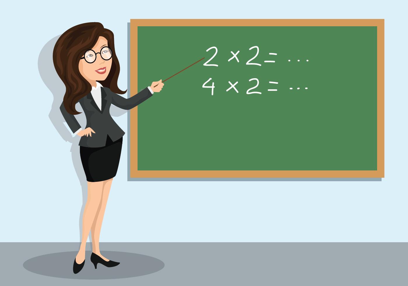 Math Teacher Illustration Download Free Vectors Clipart Graphics Vector Art