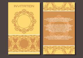 Invitación de estilo islámico de lujo