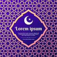 Islamic Geometric Ornament Greeting Card Arabic Style Templates vector