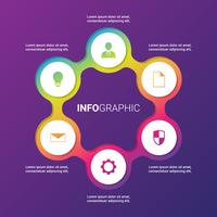 Vector Circle Elements Set For Infographic Template